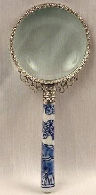 Vintage Style Porcelain Handle Magnifying Glass