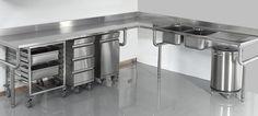 Bar Restaurant Design, Restaurant Kitchen, Bakery Design, Cafe Design, Bakers Kitchen, Pizza Kitchen, Juice Bar Interior, Antique Console Table, Steel Kitchen Cabinets