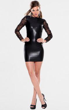 Atria Sheer Sleeved Open Back Mini Cocktail Dresses - ShopStyle Semi Formal Dresses, Open Back Dresses, Cheap Wedding Dress, Wedding Party Dresses, Sheer Dress, Bodycon Dress, Mini Dress With Sleeves, Dress Backs, My Style