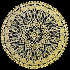 #crochet #pattern #lace #doily Beautiful crochet lace doily
