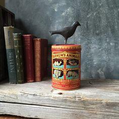 Barnum's Animals National Biscuit Company Tin: Vintage Nostalgic Advertising Tin, Cracker Tin, Home Decor, Storage, Nursery Decor by Untried on Etsy