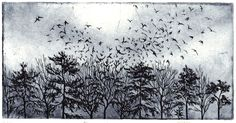 Etchings | Philippa Jones follow Crow Art, Field Of Dreams, Great Expectations, Black Forest, Black And Grey Tattoos, Line Art, Printmaking, How To Draw Hands, Illustration Art