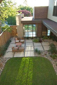 Fantastic Patio Flooring Ideas Backyard patio idea and landscaping design.Backyard patio idea and landscaping design. Concrete Patios, Gravel Patio, Backyard Patio Designs, Small Backyard Landscaping, Small Patio, Backyard Ideas, Landscaping Tips, Small Yards, Pea Gravel