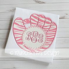 Baseball Glove Monogram