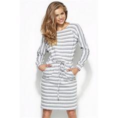 Nowy producent w sklepie - Alore http://www.planetap.pl/alore-m-172.html Sukienka w paski al23 - szary/biały - AL23