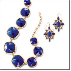 Avon Royal Hue Collection: collar necklace & drop earrings #jewelry