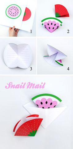 Fruity note cards // Triangular envelopes - by minieco.co.uk