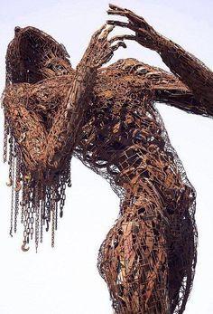 Karen Cuolito Scrap metal sculpture
