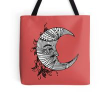 Moon Face Design Tote Bag