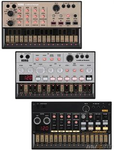 "The Korg Volca series, 3 fully analog modules (drum machine with the ""Beats"", bass synth with the ""Bass"" and lead synth with the ""Keys"")... Soon I hope !"