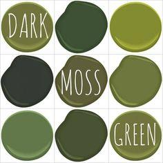 DARK MOSS )OLIVE, AVOCADO) GREEN - ALL BENJAMIN MOORE - AVOCADO, COLONIAL…