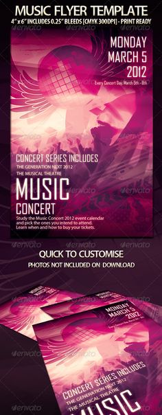 Electro Music Flyer Templates Bundle | Music Flyer, Flyer Template