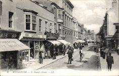 Weymouth. St Mary's Street # 47 by LL / Levy. Black & White. | eBay Weymouth Harbour, Weymouth Dorset, Old Images, Old Photos, Seaside, Past, Saints, Places To Visit, To Go