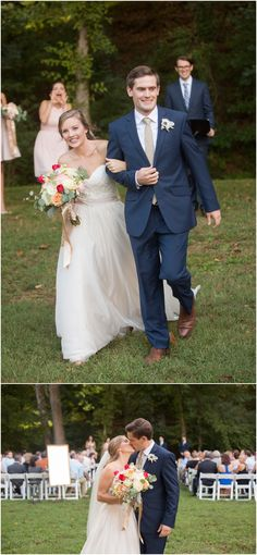 Must have wedding photo: After you kiss and run down the aisle, kiss again for a picture of all your guests behind you!