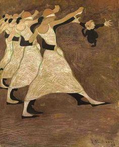 Léon Spilliaert, Les Danseurs on ArtStack #leon-spilliaert #art