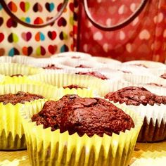 Low Fat Chocolate Banana Muffins
