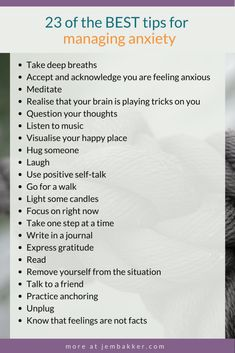 23 of the best Tips for managing Anxiety. Stress less. Stop stress.How to stop worrying. Stop worrying about others. How To Control Anxiety, Deal With Anxiety, Anxiety Tips, Social Anxiety, Anxiety Relief, Stress And Anxiety, Controlling Anxiety, Stress Relief, Mental Health