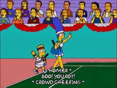 bart simpson marge simpson season 12 episode 12 tennis boo 12x12 rot via diggita.it #tennis