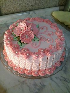 Cute little pink cake