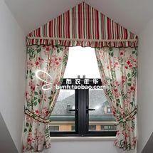 Лён ткань американский стиль занавески треугольник окно особое в форме окно чердак кр...