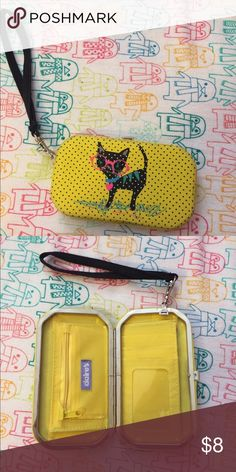 Claire's Wallet Has a slot for 2 cards and then your ID! Comes with a strap to make it a wristlet. Comes from a smoke free home! Hold cash and coins. Used slightly. Claire's Bags Clutches & Wristlets
