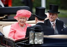 Queen Elizabeth and Prince Philip attend the royal Ascot day four today.