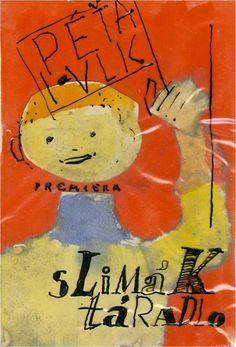 """Lubomir Blecha, The design of poster for children's opera """"Peter and Wolf"""" and """"Snail windbag"""", 1962, Theater of Jozef Gregor Tajovský, Banská Bystrica, Czechoslovakia"""