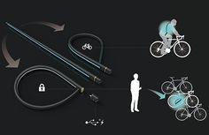 Ciudad luciérnaga es un sistema de cerradura de cadena de bicicleta que instantáneamente se convierte en equipo de seguridad para los ciclistas. Ciudad Firefly por Takeshima Kazuyoshi, Uchima Rosa de TBWA – HAKUHODO red_dot_bob4