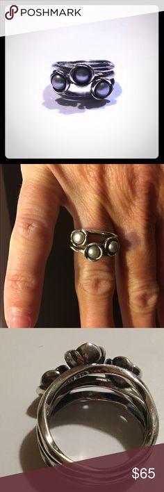 295295e3c 190606gp 50 size 50 50bb9 get pandora grey pearl ring. triple bloom retired  7aec4 0ca3c ...