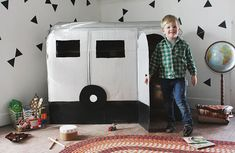 This DIY Cardboard Camper Playhouse Allows Children to Act Like Adults #camper trendhunter.com
