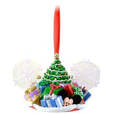 Christmas Tree Mickey Mouse Ear Hat Ornament