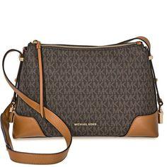 7e62ff5eaae2 US $160.30-Michael Kors Crosby Medium Signature Logo Print Messenger Bag -  Brown / Acorn. Karen Childers · Designer Bags · Michael Kors Rhea ...
