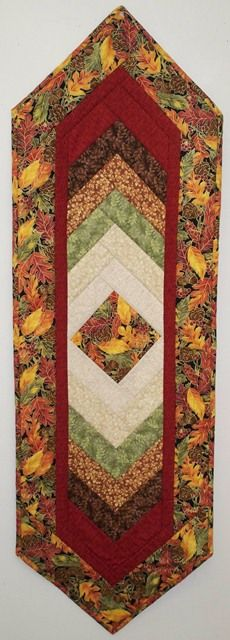beautiful table runner with our fall fabrics