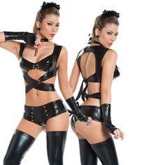 2016セクシーなランジェリーホット女性囚人野生チャームpuレザーテディセクシーなベビードールエロランジェリーlenceriaセクシーな衣装