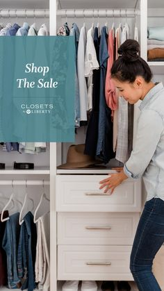 Get your next stay-at-home project for less! Our customizable closet systems are on sale at the Home Depot. Bedroom Organization, Kitchen Organization, Organization Ideas, Storage Ideas, Closet Storage Systems, Closet System, Master Closet, Master Bedroom, Replacement Glass Lamp Shades