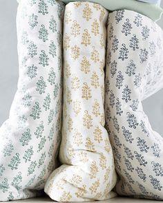 Block-Print Organic-Cotton Flannel Bedding