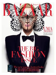 MK ULTRA Monarch Butterfly blatant in Fashion. Uma Thurman is OWNED !