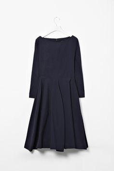 Love this indigo colored dress from coss (A-Line Panel Dress)