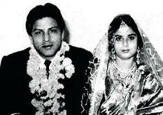 Shahrukh Khan's parents on their wedding day - Mir Taj Mohammed Khan & Fatima (Begum) Khan