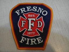Patch fire Fresno Fire Department USA California 100%ORIGINAL Rarity