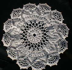 Crochet Lace Patterns | crocheted lace: Corticelli Venetian Pattern Doily from 1918 - Finished ...