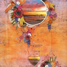 HARVEST SUNSET - IT IS IMPOSSIBLE TO WATCH A SUNSET AND NOT DREAM Oct 2016 - Santa Monica Pier, Sunset Photo by Sharon Miles  Template: Harvest Sunset #1 by Heartstrings Scrap Art https://www.digitalscrapbookingstudio.com/digital-art/templates/harvest-sunset-1/ Kit: Harvest Sunset Collection by Aimee Harrison https://www.digitalscrapbookingstudio.com/digital-art/bundled-deals/harvest-sunset-collection-31946/