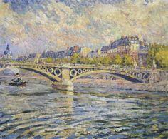 """The Seine at Paris"" (1904)    Henri Lebasque"
