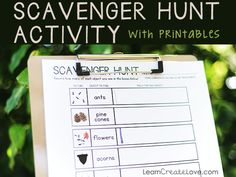 Scavenger Hunt Activity with Printable | LearnCreateLove.com