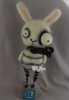 #papermoongallery black & white bunny