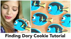Finding Dory cookie decorating DIY tutorial. Step by step sugar cookie decorating Dory cookies from finding Nemo. Done using royal icing and sugar cookies. T...
