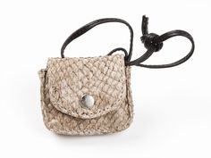 #handbag made of fish leather (perch) | Design by Huld
