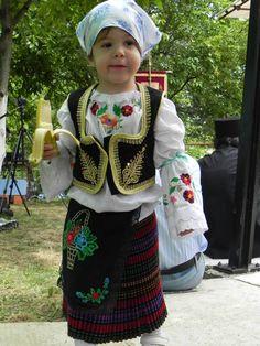 Serbian girl in folk costume