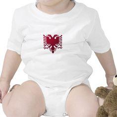 Albanian two-headed eagle baby bodysuit