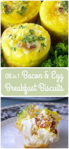 Big, tender and flaky, these All in 1 Bacon & Egg Breakfast Biscuits (pin) are fun to make and totally delicious to devour. Freezer friendly too. | homemadeandyummy.com